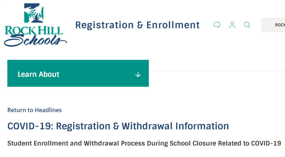 Registration and Withdrawal Information