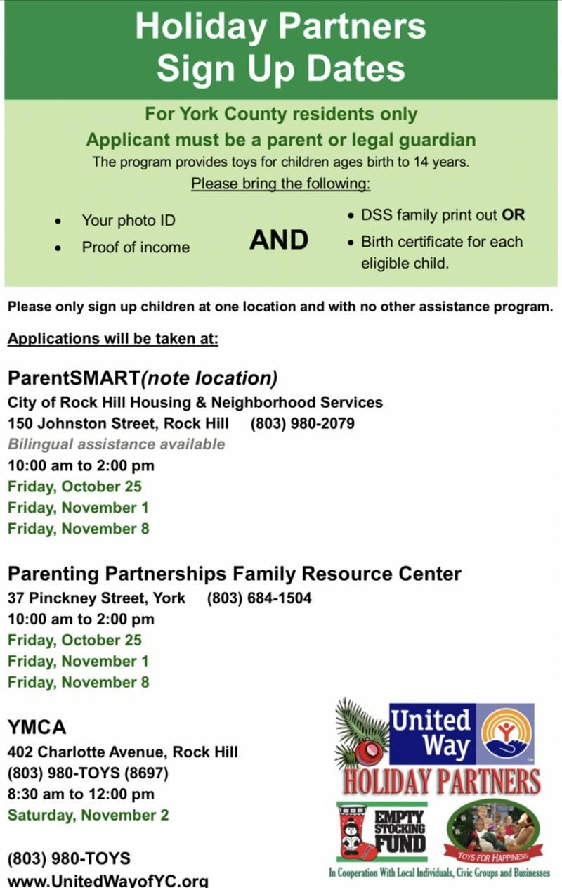 Holiday Partners Dates