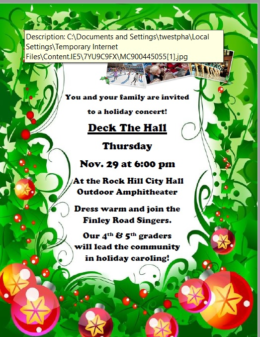 Holiday Concert Information