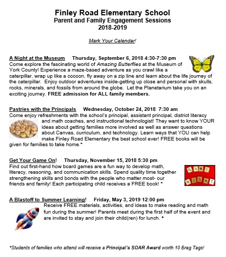 Parent & Family Engagement Sessions 2018-19