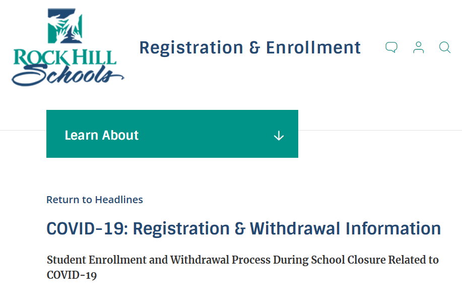 Registration & Withdrawal During COVID-19