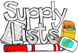 2020-2021 Supply List!  Patriots, It's time to gear up for the new year.