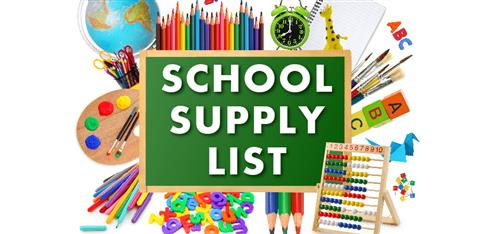 2018-2019 Elementary School Supply List