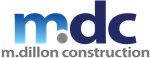 m dillion construction logo