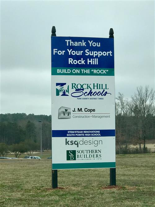 Build on the Rock construction sign