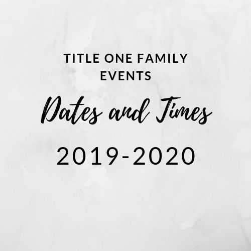 Rosewood Title One Family Events Schedule