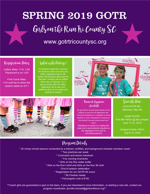 Girls on the Run Sign Ups begin January 14th