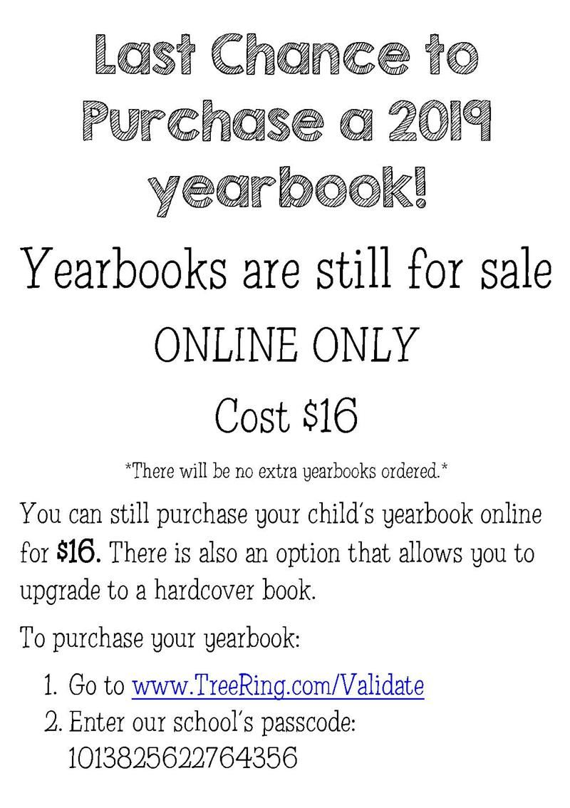 Last Chance for Yearbooks