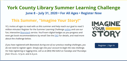 YCL Summer Learning Challenge