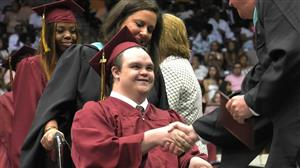 graduate in wheelchair