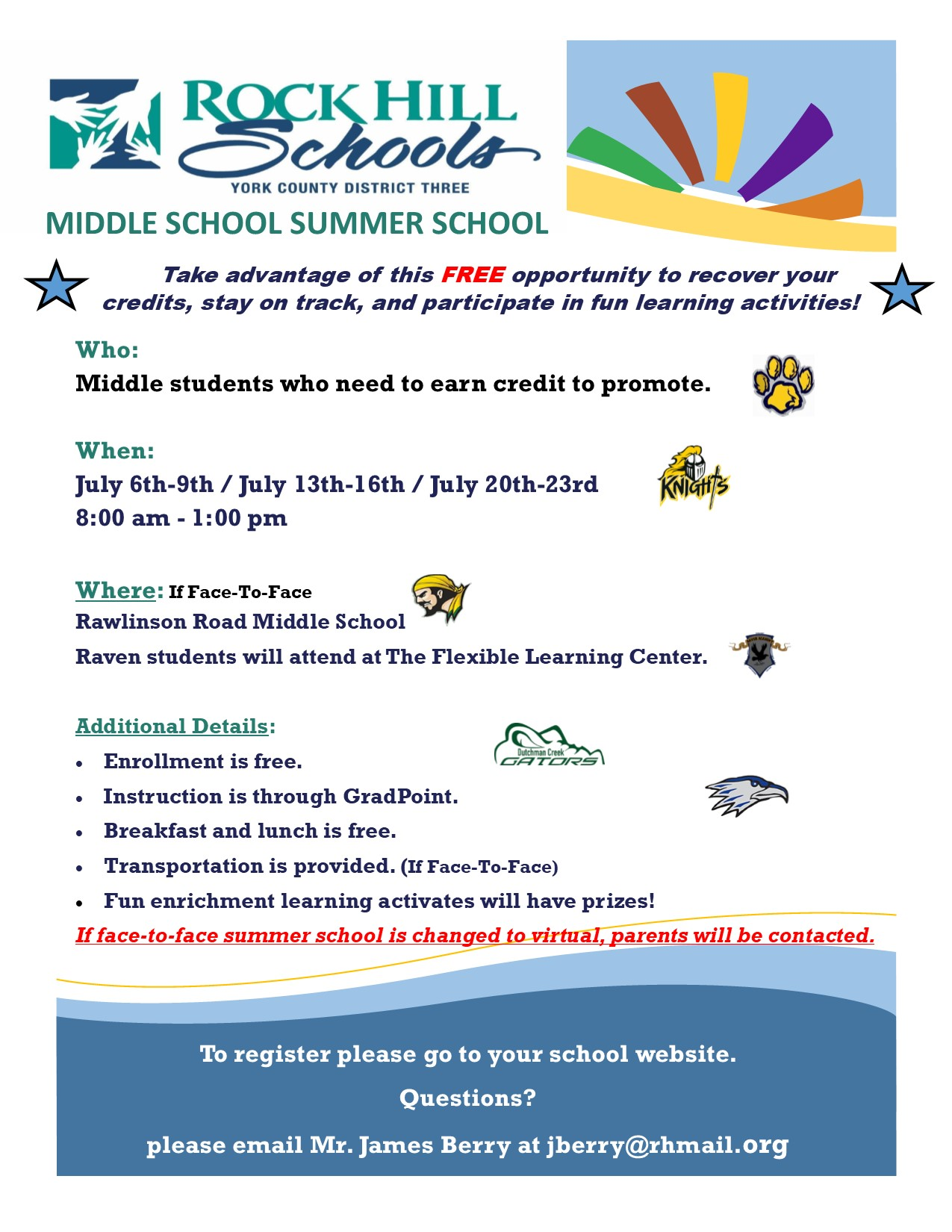 Register for Summer School Here