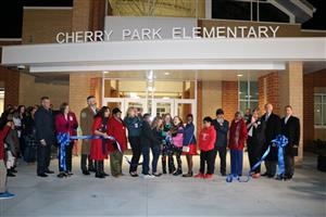 Cherry Park ribbon cutting