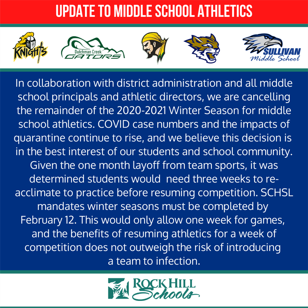 Winter Sports Message for Middle Schools