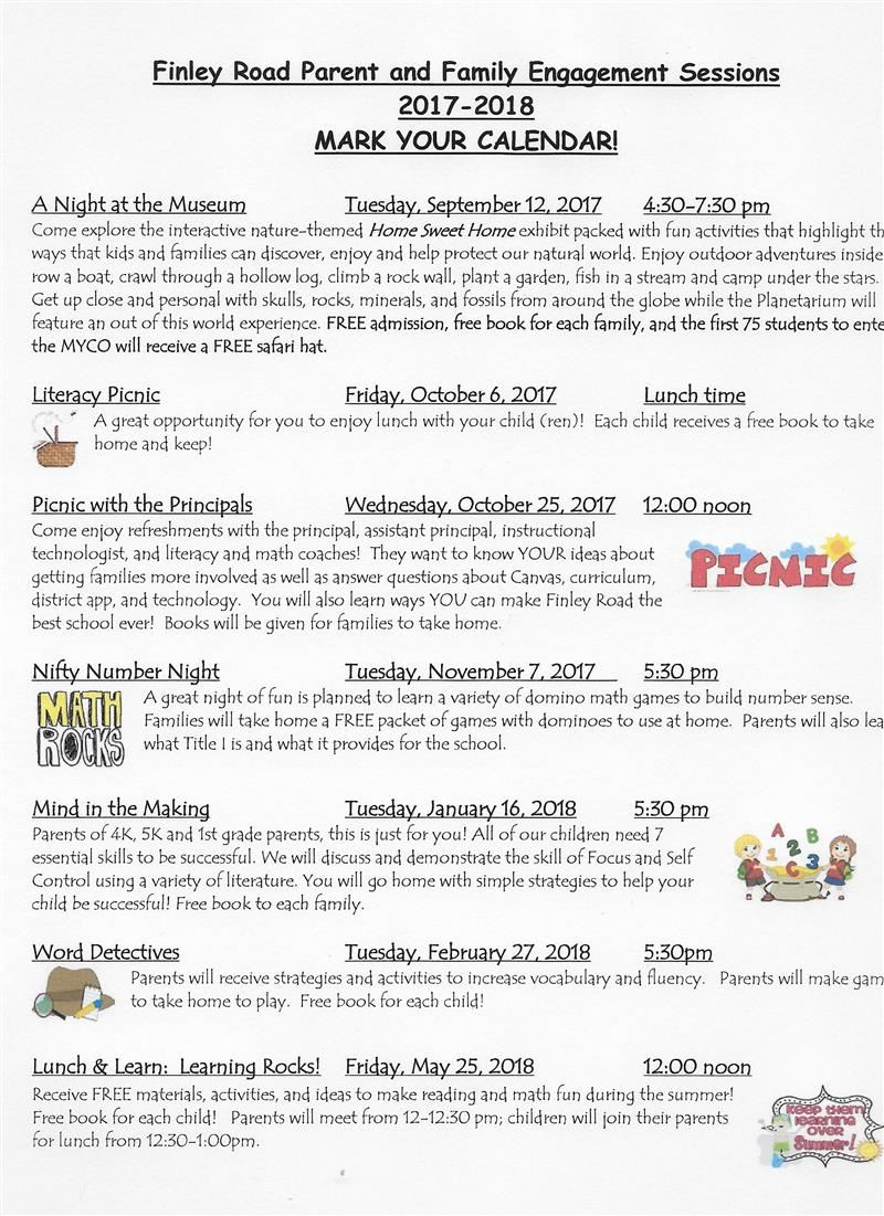 HOME / 2017-2018 Finley Road Title I Parent and Family Engagement Events