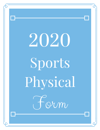 2020 Physical Form For Athletics