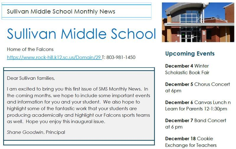 Sullivan Falcons Monthly Newsletter
