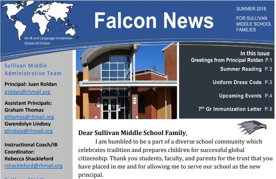 Sullivan Summer Newsletter