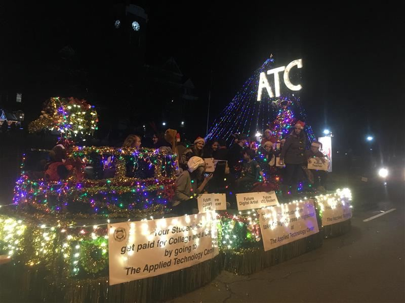 ATC wishes Happy Holidays at the Rock Hill City Parade