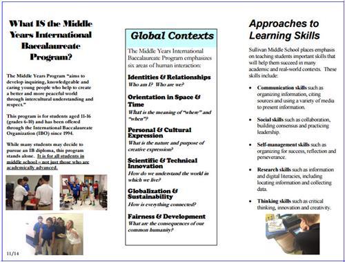 School Of Choiceinternational Baccalaureate Ib Brochure