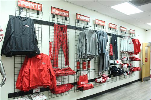 school store items on the wall