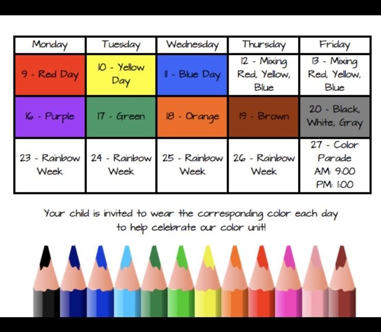 Celebrate our Color Unit!